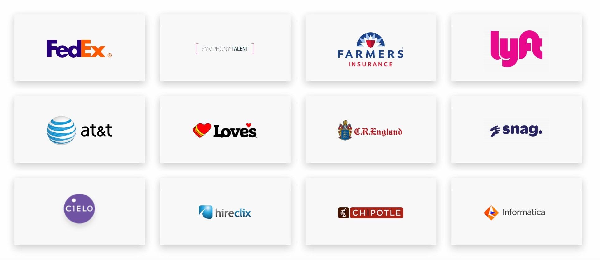 Appcast Customer Logos